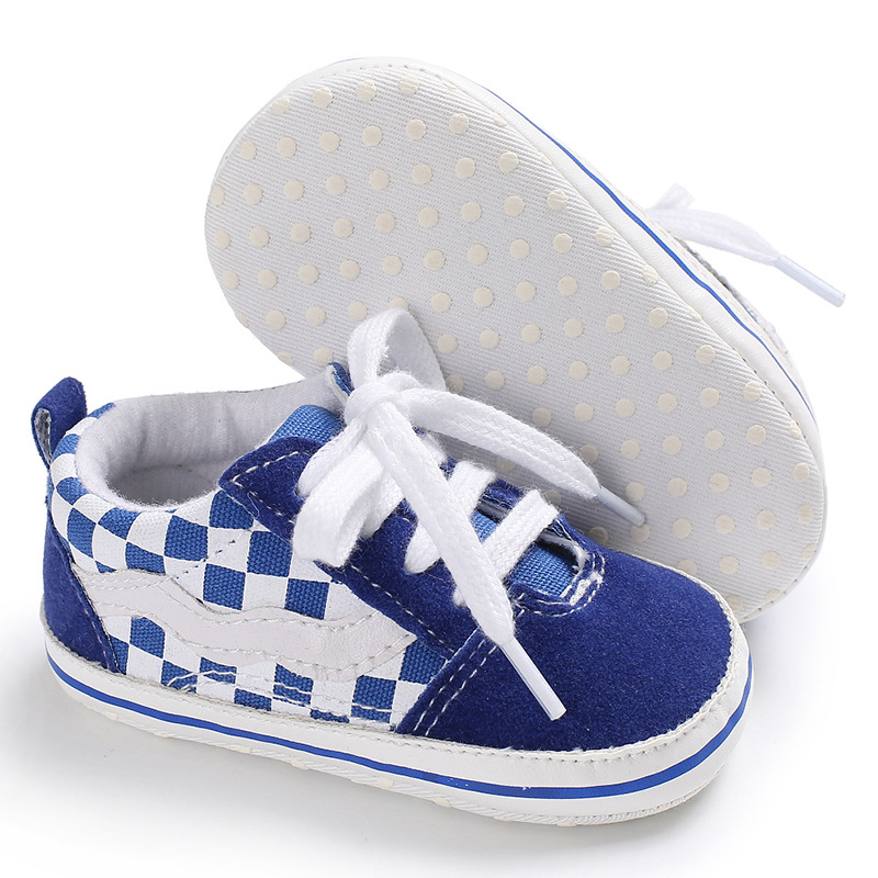 Raise Young 2018 Spring Autumn Baby Boy Sneakers Canvas Lace-Up Newborn Boys First Walkers Toddler Infant Shoes For 0-18M