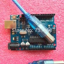 UNO R3 for Arduino (with LOGO) MEGA328P ATMEGA16U2  5PCS UNO R3 + 5PCS cables
