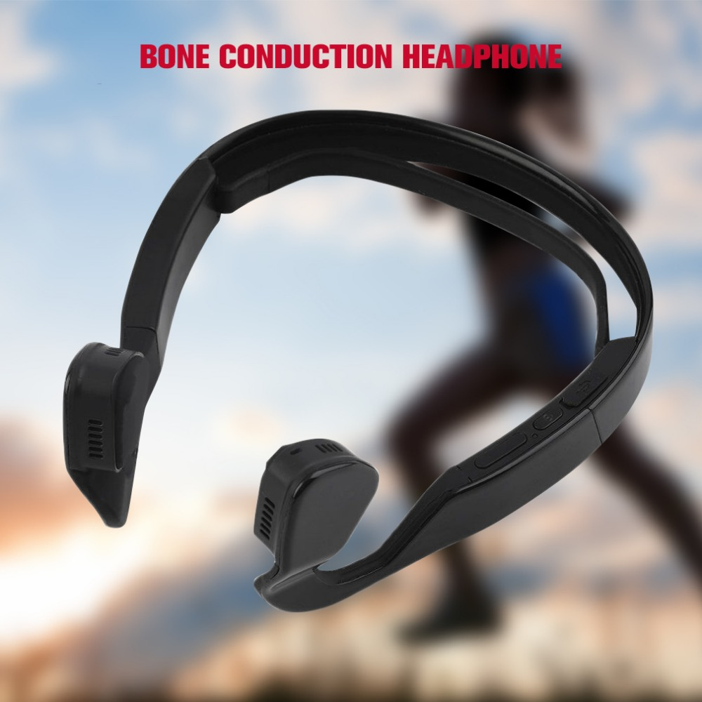 Bone Conduction Headphone Bluetooth 4.0 Wireless Stereo Sports Headset  with Mic for IOS Android phone Dropshipping wireless bluetooth earphone with mic face mask anti dust stereo music handfree headset bone conduction headphone for ios android
