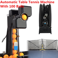 ac0ba0b87 80x34x34cm 50W Automatic Robot Table Tennis Ping Pong Ball Machine Practice  Recycle With 100 Balls 0