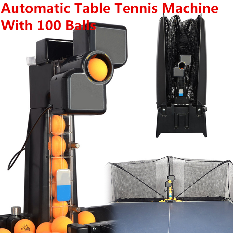 80x34x34cm 50W Automatic Robot Table Tennis Ping-pong Ball Machine Practice Recycle With 100 Balls 0-9 Head Swinging Speed New80x34x34cm 50W Automatic Robot Table Tennis Ping-pong Ball Machine Practice Recycle With 100 Balls 0-9 Head Swinging Speed New