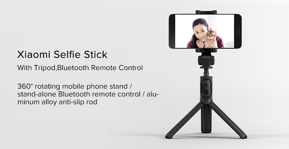 Original Xiaomi Mi selfie stick tripod Bluetooth Wireless Remote Control 360 Degree Rotating Bracket for IOS Android Mobile Phon (1)