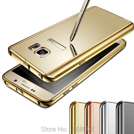 buy online b972d 1f092 US $7.89 |Gold Glossy Mirror Back Cover+Metal Alloy Clip Border Case Capa  for Samsung Galaxy Note 5 Rose Gold Slim Fit Metal Frame on Aliexpress.com  | ...