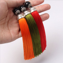 DIY Fabric Tassel Fringe 100 pcs Chinese Decorative Knots Pendants New Year Gifts Fringed with Cap