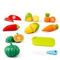 6 pçs/set engraçado play house brinquedos para as crianças de corte de plástico de frutas legumes cozinha clássico do bebê crianças presentes educacionais pretend