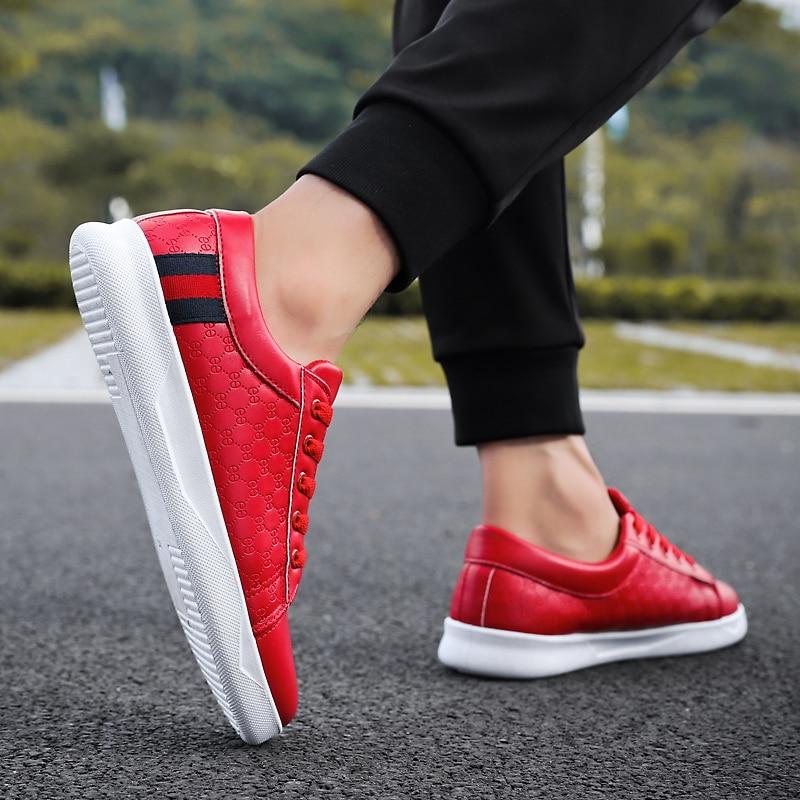 Respirantes Size39 44 Black Hombre Hommes Doux Pour Offre Classique Skateboard red white Chaussures Spéciale À Lacets Casual De Sport Zapatos srdChQtx
