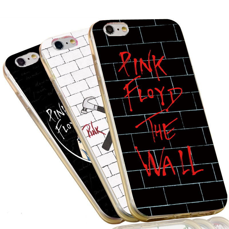 2017 HOT Sale Soft TPU Cell Phone Cover for Apple iPhone 6 6S 7 Plus 5 SE 5S 5C 4 4S Pink Floyd The Wall Silicone Case