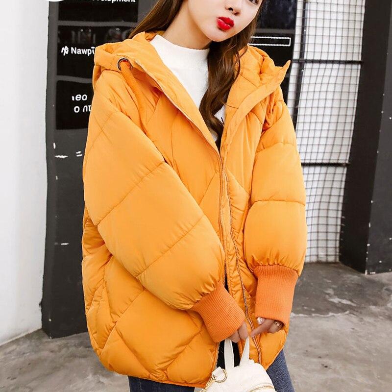 Solides La Manteau Femmes Mode army Hiver Plus 2018 Parka D'hiver Green Taille Casual Veste Feminino Jaqueta jaune rose rouge Casaco Noir Feminina wCqS0p