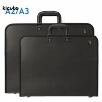 1pcs A2 A3 Vinyl Artist Portfolio Drawing Painting Storage File Folder Plastic Document Carry Case For
