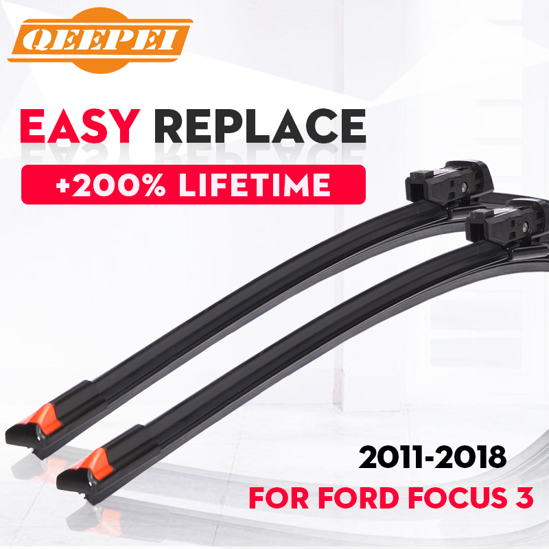 QEEPEI Replace Wiper Refill Windscreen Wiper Blades For Ford Focus 3 2011 2012 2013 2014 2015 Windshield Rubber Car Accessorie wiper blades for ford s max 30