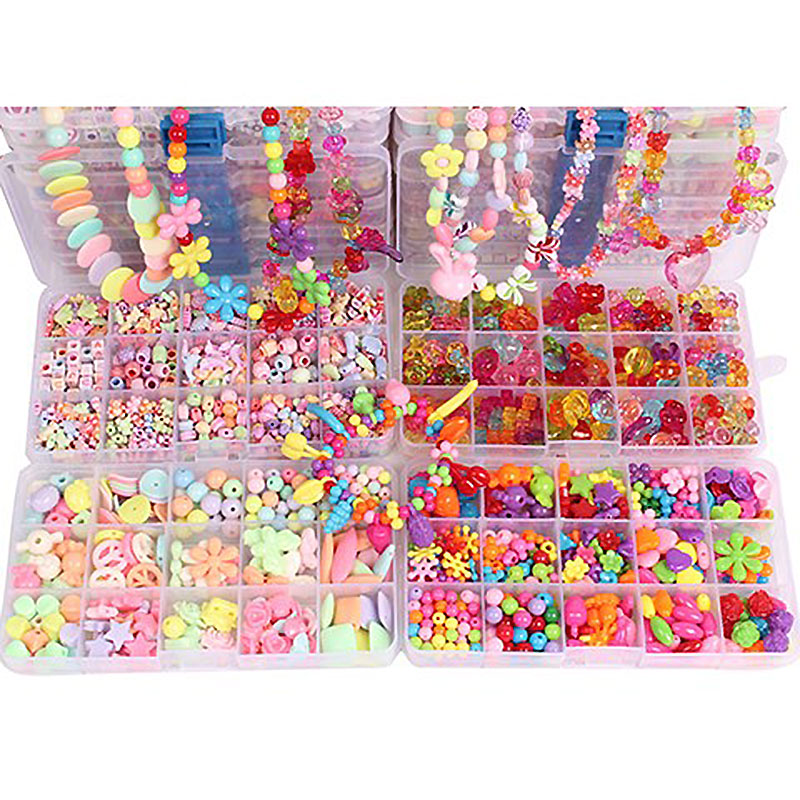 500pcs Bead Kit DIY Toys For Children Lacing Bead Sets For Girls Handmade Necklace Toys For Girls 7 Years Handcraft MK2764H