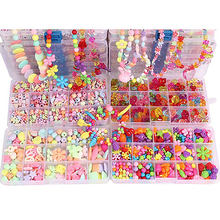 500pcs Bead Kit DIY Toys For Children Lacing Bead Sets For Girls Handmade Necklace Toys For Girls 7 Years Handcraft MK2764H(China)