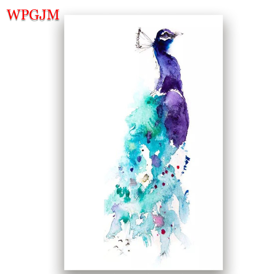 Oil, Painting, Shipping, Modern, Hand, Peacock