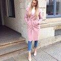 2016 новая зимняя мода/Вскользь женщин Пальто Шанца длинные Пиджаки свободная одежда для леди хорошего качества