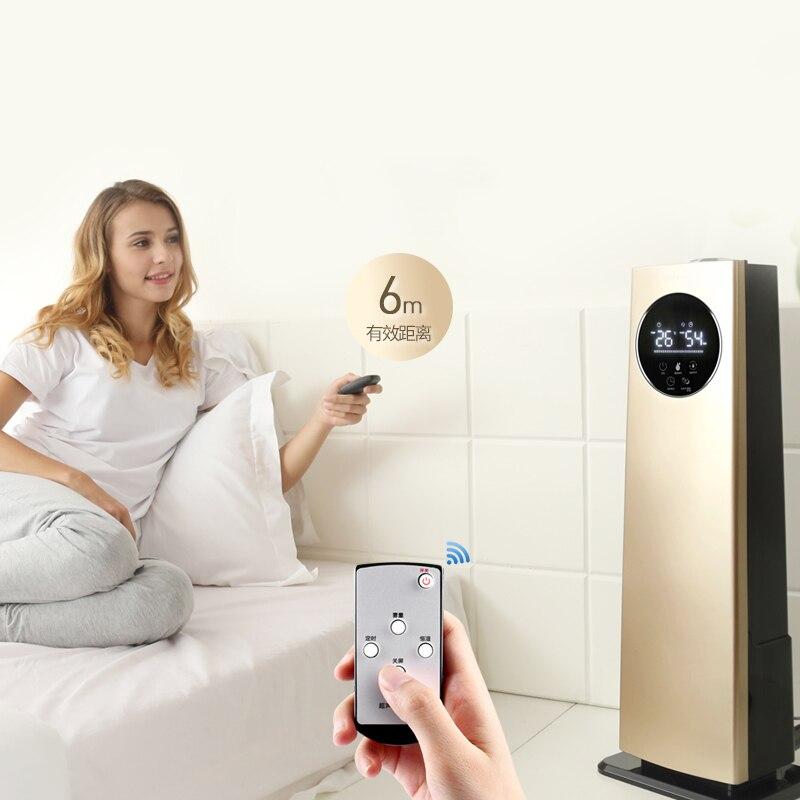 Sol-debout Humidificateur D'air Ménage Silencieux Chambre Bureau Haute Capacité Intelligente Humidité Constante 8L Calendrier Tactile Écran