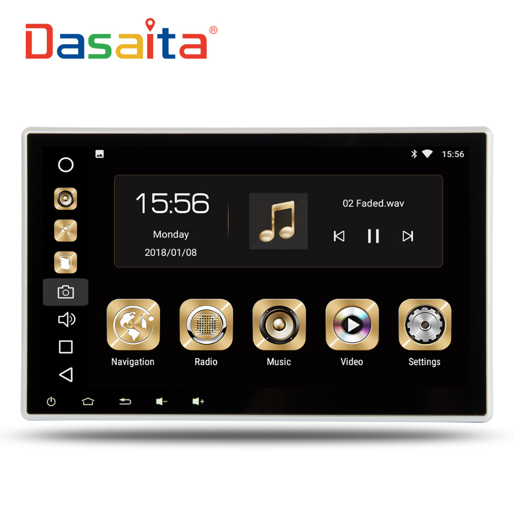 Dasaita 10.2 Android 8.0 Car GPS Radio Player for 2 din Universal with Octa Core 4GB+32GB Auto Stereo Multimedia Headunit