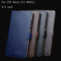 5 5 Genuine Leather For ZTE Nubia Z11 NX531J Case Cover Back Cover Phone Case For