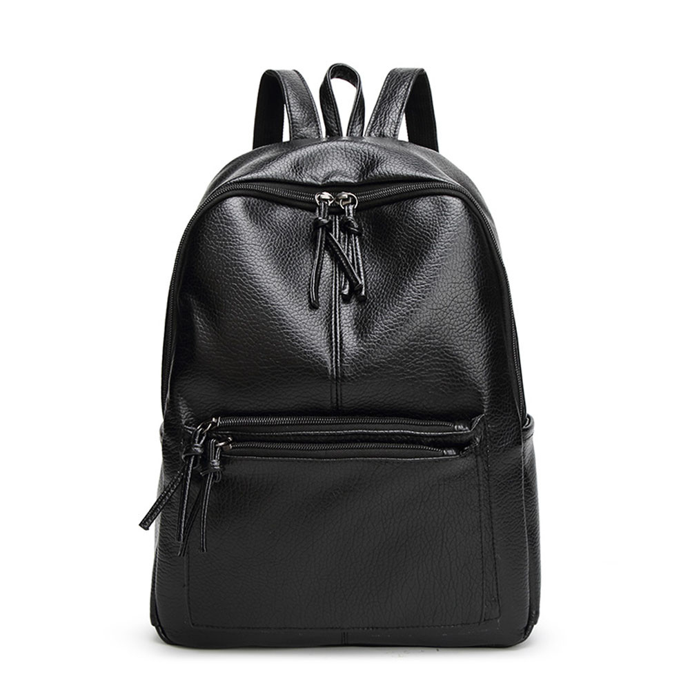 High quality PU Leather Backpack Women School Travel Bag Fashion Casual Backpacks Luxury bolsos mujer 2017