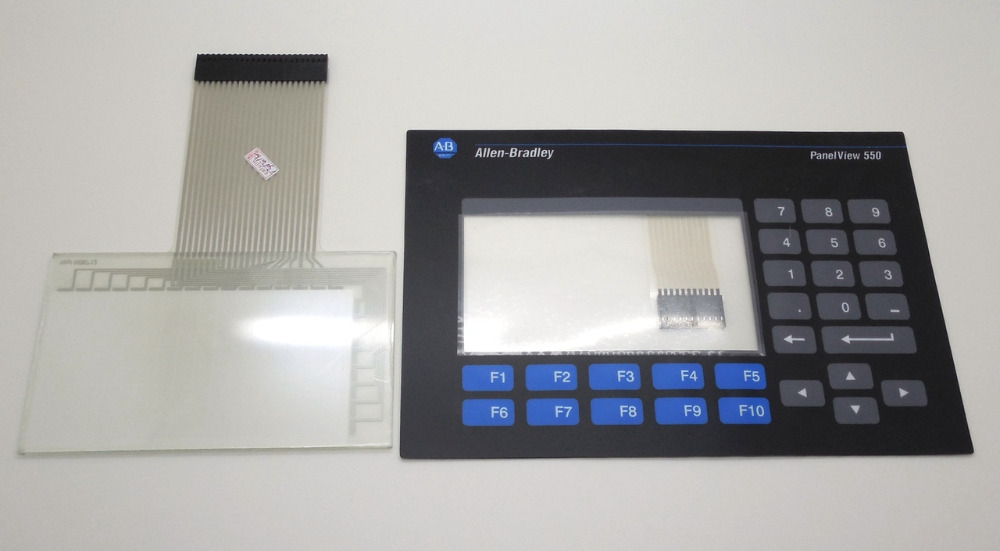 ALLEN BRADLEY 2711-B5A PANELVIEW 550 KEYPAD AND TOUCH GLASS REPLACEMENT 2711-B5A1 OVERLAY used in good condition allen bradley panelview c400 2711c t4t ser a with free dhl ems