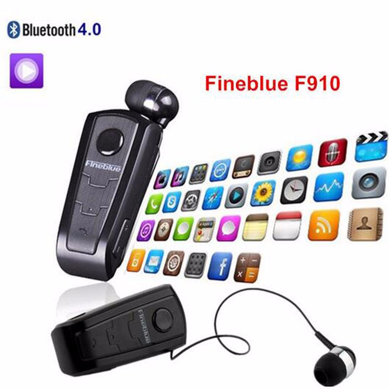 FineBlue F910 Wireless Bluetooth Earphone Auriculares Retractable Remind Vibration Alert Wear Clip Hands Free Driver Earphones 1