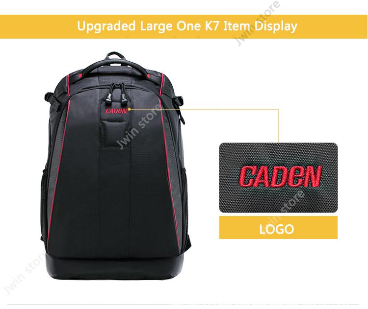 CADeN Professional Travel Waterproof Fashion Camera Backpack Photo tas Digital Camera Bag Case for Dslr Sony Canon Nikon K6K7 5