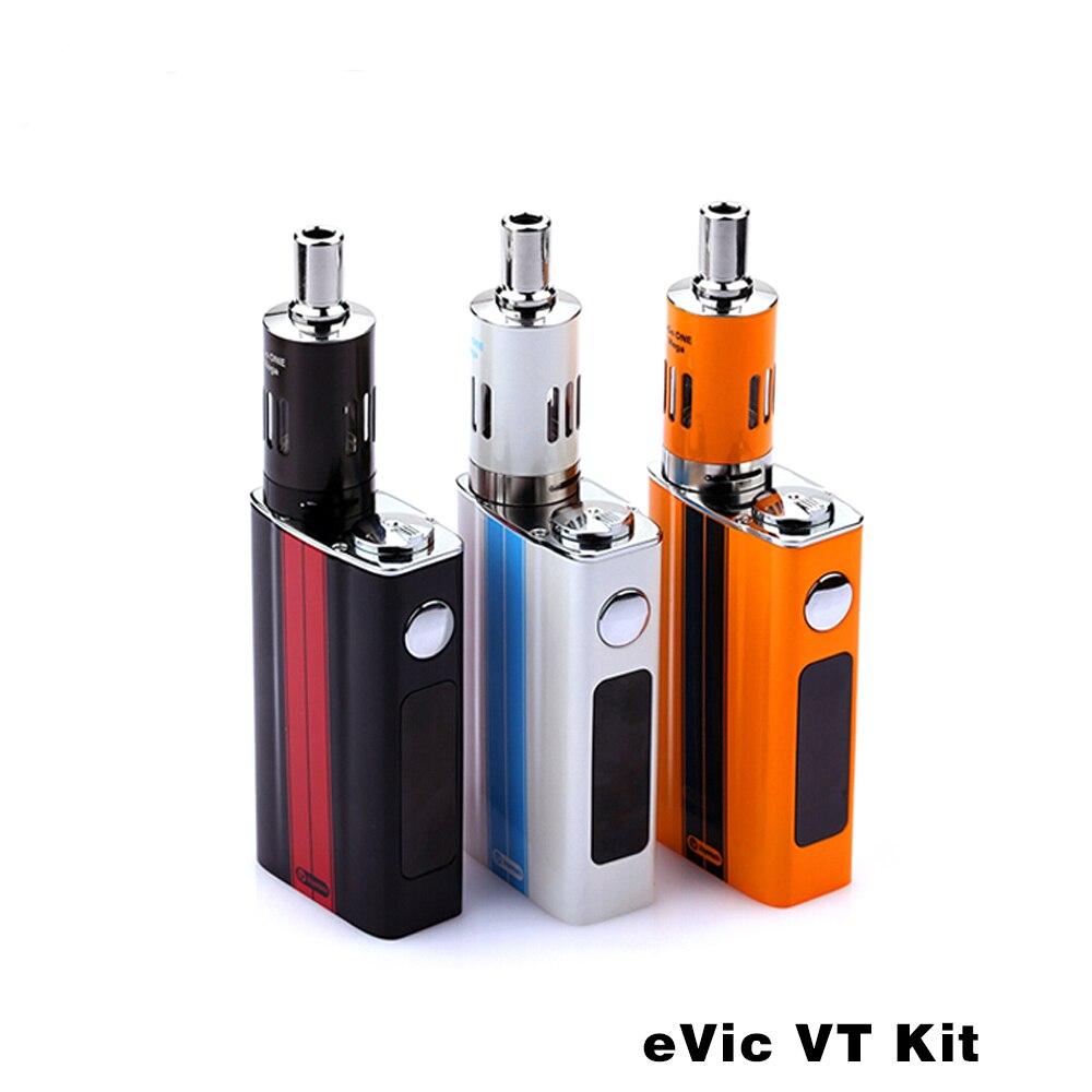 ФОТО 100% Original Joyetech Evic VT Kit With 5000mah Battery Advanced Temperature Control Mod Electronic Cigarette Ni Ti VW