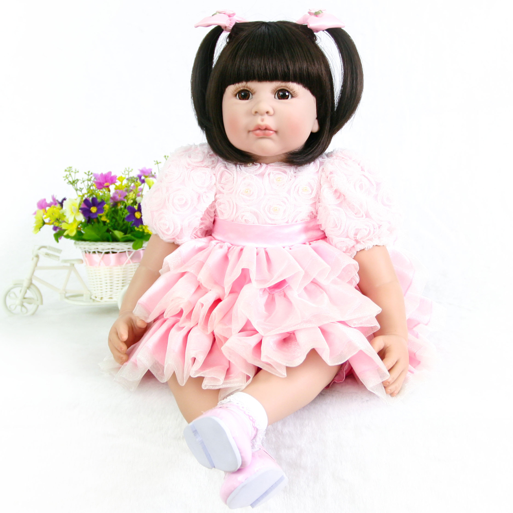 60cm Silicone Reborn Girl Baby Doll Toys Vinyl Pink Princess Toddler Babies Dolls bebe rebor Birthday Gift Limited Edition Doll60cm Silicone Reborn Girl Baby Doll Toys Vinyl Pink Princess Toddler Babies Dolls bebe rebor Birthday Gift Limited Edition Doll