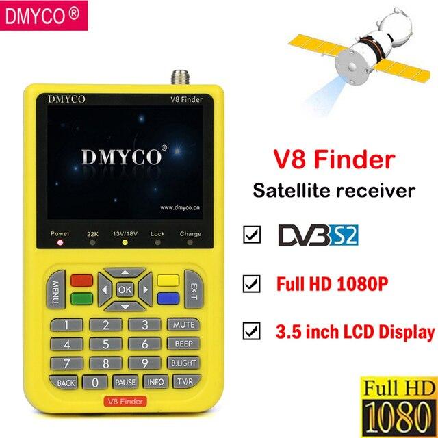 DMYCO V8 Finder Satellite Finder LCD Screen Display Full HD 1080P DVB-S2/S satfinder MPEG-2/MPEG-4 FTA Digital Satellite meter