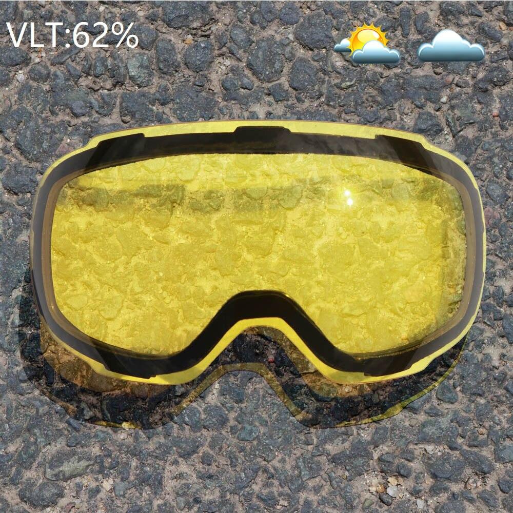 COPOZZ Magnétique Lunettes de Ski avec Interchangeables Jaune Lentille Anti-buée et UV400 Protection Snowboard Lunettes pour Adulte Hommes Femmes - 3