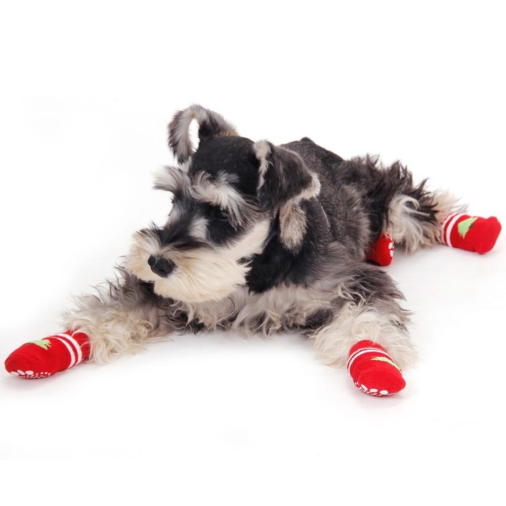 Chirstmas Носки для девочек продукт для Животные Собака теплые зимние Рождество дерево милый кот Щенок Уход за лошадьми Обувь Pet украшением дома...