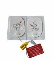 Новый 20 пар/упак. AED тренажер Electode колодки для взрослых AED спасательной подготовки проведения патчи