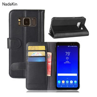For S8 Active Retro Magnetic Wallet Genuine Leather Case For Samsung Galaxy S8 Active Flip Cover