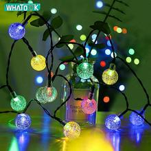 50LEDS Solar garden Lights LED Lamps Fairy Christmas Crystal Ball String Light Waterproof Outdoor Garden Wedding Home Deco