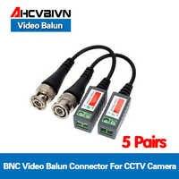 10 stücke/5 Pairs ABS Kunststoff CCTV Video Balun CCTV Zubehör Passive Transceiver 2000ft Abstand UTP Balun BNC Kabel CAT5 Kabel