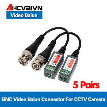 10 sztuk z tworzywa sztucznego ABS cctv video Balun akcesoria do monitoringu pasywne transceivery 2000ft odległość UTP Balun kabel bnc CAT5 kabel tanie i dobre opinie VIDBC-XY10-1025 AHCVBIVN CE FCC ROHS 3 years