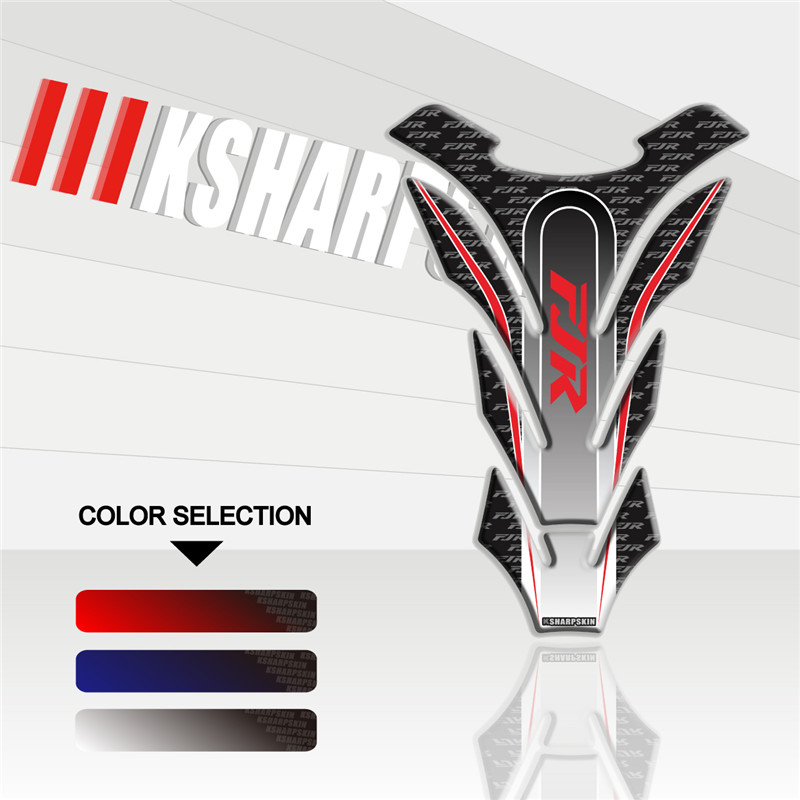 Motorcycle 3D Fuel Tank Pad Sticker Protective Decorative Decal For YAMAHA FJR Fish Bone Sticker Fjr 1300
