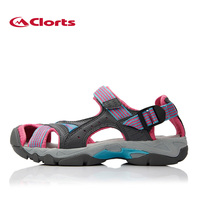 2016 Clorts Sandals For Women PU Breathable Aqua Shoes For Hiking EVA Sport Outdoor Sandals Women