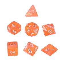 1 Набор 20 сторонних игровых кубиков D20 многогранные кости для подземелья и драконов настольные игры(красочные