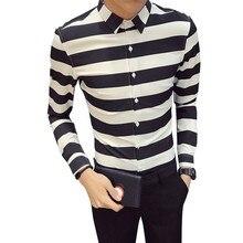 Amplia raya clásica camisa de los hombres de Corea Slim Fit Turn Down  Collar camisas de vestir ropa Formal de negocios camisa de. feed7c7933b