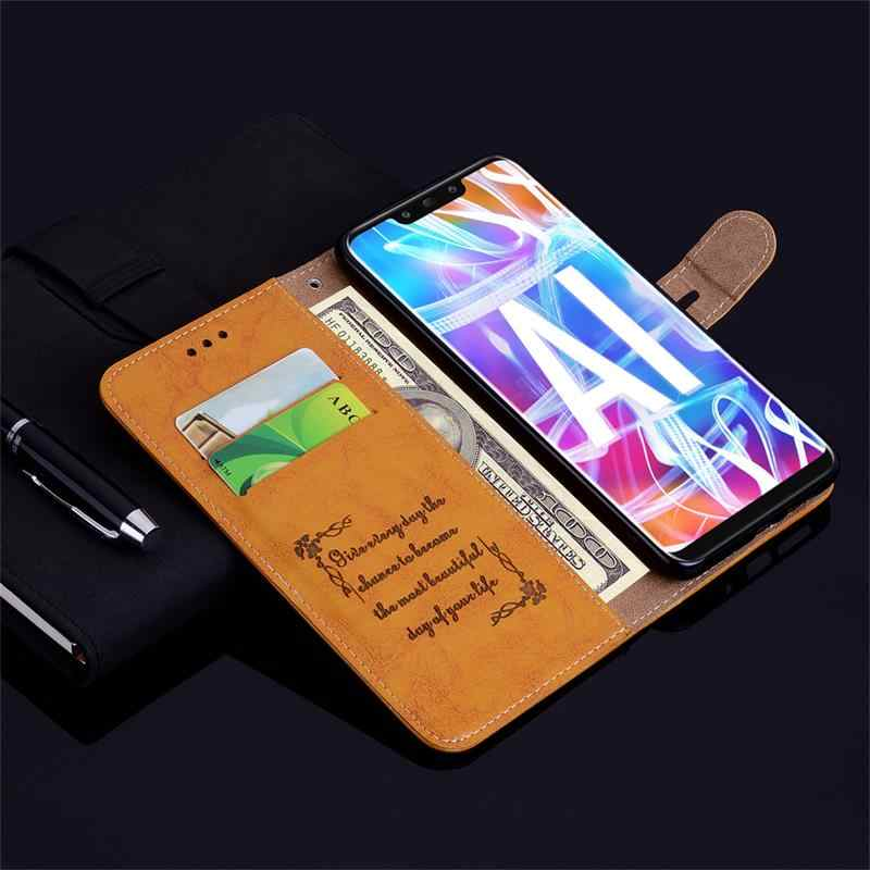 Luxury Wallet Flip Leather Case For Huawei P30 Lite P20 Mate 20 Pro Nova 3 3i Cover On P Smart Plus Y5 Prime 2018 Y6 Y7 Y9 2019