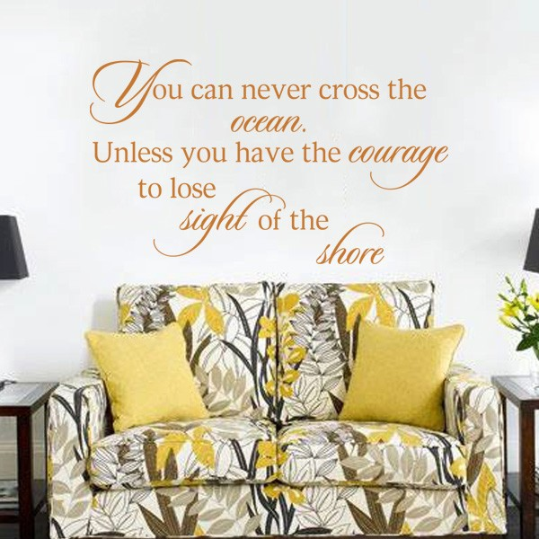 Aliexpresscom Buy You Can Never Cross The Ocean Vinyl Decal - Wall decals beach quotes