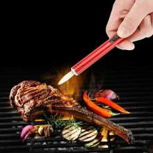 HOT SALE! Metal Outdoor Camping Barbecue Igniter Charcoal Gas Cooker Stove Lighter Barbecue Accessories Igniter Gun Lighter with(China)