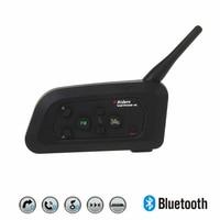 V4 1200m Bluetooth Motorcycle Bike Interphone 4 Riders Headset Speaker Intercom for KTM arai Helmet Football Referee