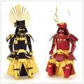Sanada yukimura/toyotomi hideyoshi armadura samurai japonês modelo 3d jigsaw puzzle diy montado puzzle brinquedos de metal de corte a laser