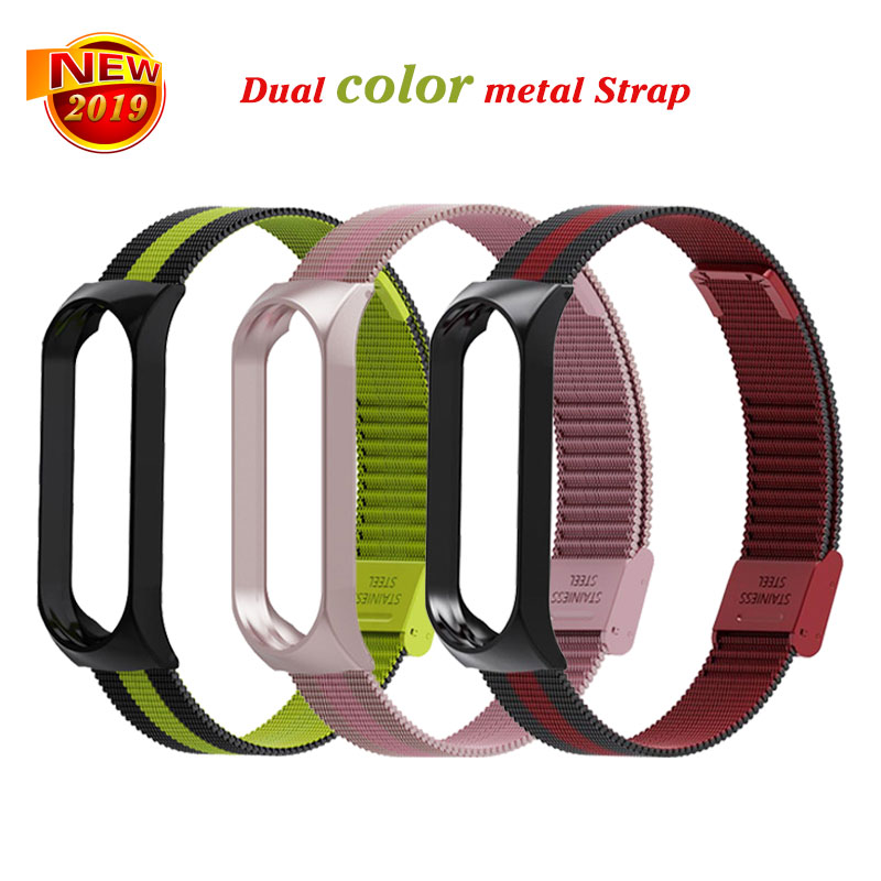 Bracelet for Xiaomi Mi Band 3 Strap watch metal/Silicone wrist strap For xiaomi mi band 3 accessories bracelet Miband 3 Strap(China)