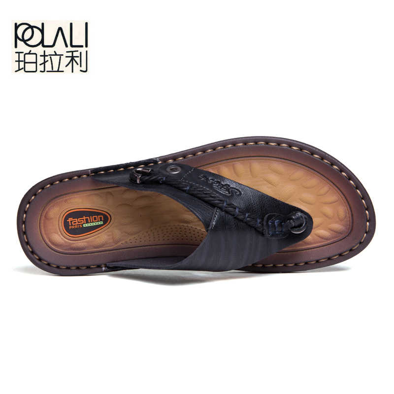e01f0f648 ... POLALI Luxury Brand Flip Flops Soft comfortable Microfiber Leather  Slippers Beach Slipper Flip Flop Summer Shoe ...