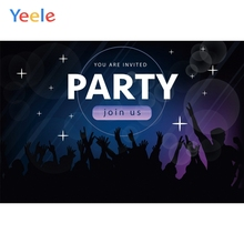 Yeele Party Vinyl Background Carnival Dance Light Photography Backdrops Personalized Photographic Backgrounds For Photo Studio color blocks backgrounds photography backdrops for studio 5x8 ft vinyl print backdrop photo booth photographic background m 1345