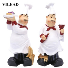 VILEAD 26cm Resin Tray Glass Chef Figurines Europe Creative Character Home Decoration Accessories Dog Ornament Animal Craft Gift
