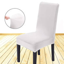 HOT Removable Spandex Stretch Elastic Solid Chair Covers Dining Room Wedding Banquet Chair Covers Decor Washable Slipcover(China)