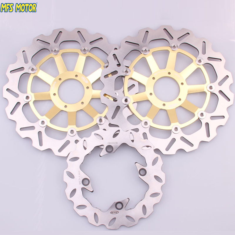 MFS MOTOR Front Rear Brake Discs Rotor For Honda CBR 900 RR 919 1998 1999 CBR 900 RR  98 99 CBR900RR 919 98 99 Gold rear brake disc rotor for honda cbr 600 rr cbr900rr cbr 1000 rr cbr 400 rr 1998